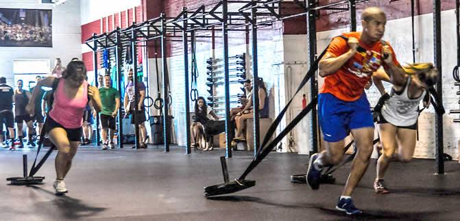 Parte centrale allenamento WOD - trascinamento peso